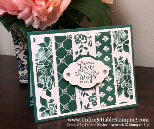 Unfrogettable Stamping   Fabulous Friday Monochromatic card featuring the Fresh Florals DSP stack and Ribbon of Courage stamp set by Stampin' Up!