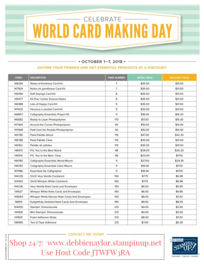 Unfrogettable Stamping | 2018 World Card Making Day promotion from Stampin' Up!