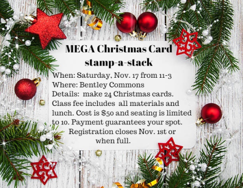 Unfrogettable Stamping | MEGA Christmas Card stamp-a-stack Nov. 17th from 11 am to 3 pm