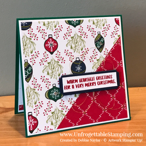 Unfrogettable Stamping | Fabulous Friday 2018 Holiday Catalog CASE featuring the Under the Mistletoe DSP, Merry Christmas Thinlits and Cookie Cutter Christmas stamp set from Stampin' Up!