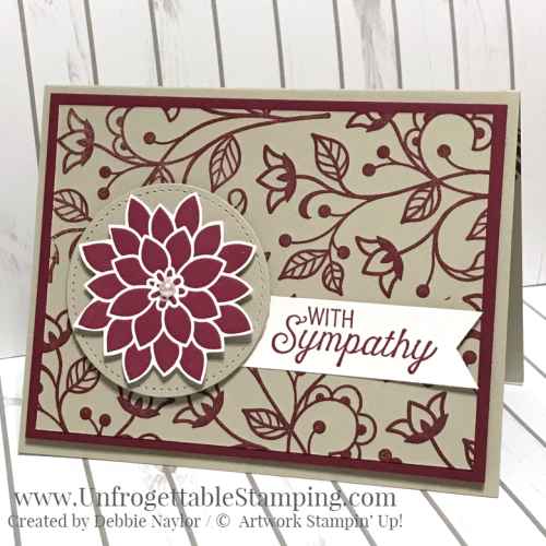 Unfrogettable Stamping | Fabulous Friday sympathy card featuring the Flourishing Phrases stamp set by Stampin' Up!