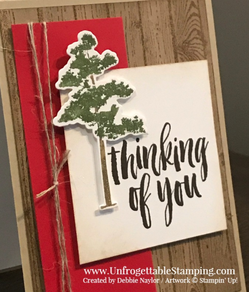 Unfrogettable Stamping | Fabulous Friday sympathy card featuring the Rooted in Nature bundle and Hardwood stamp set by Stampin' Up!