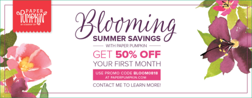 Unfrogettable Stamping | Paper Pumpkin Blooming Summer Savings