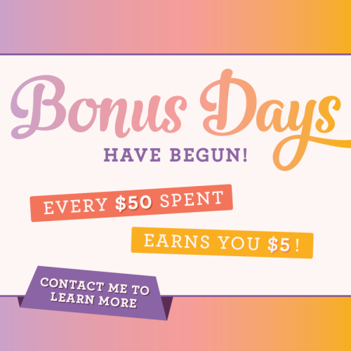 Unfrogettable Stamping | Bonus Days promotion from Stampin' Up! now through August 31st!!