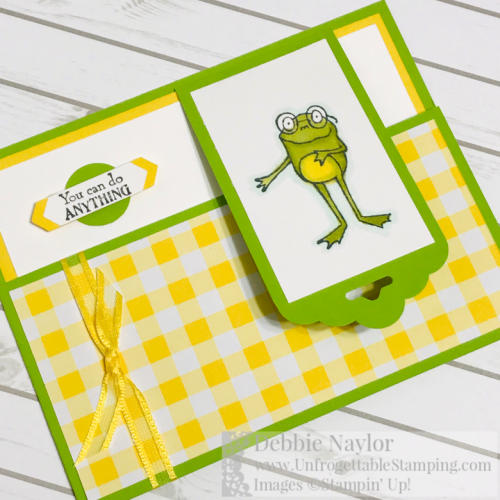 Unfrogettable Stamping | January 2019 Stampers Dozen Blog Hop Sale-a-Bration card featuring the So Hoppy Together stamp set and Organdy Ribbon combo pack from Stampin' Up! Earn each for FREE with a qualifying $50 product order now through March 31st!!