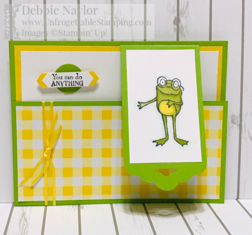 Unfrogettable Stamping   January 2019 Stampers Dozen Blog Hop Sale-a-Bration card featuring the So Hoppy Together stamp set and Organdy Ribbon combo pack from Stampin' Up! Earn each for FREE with a qualifying $50 product order now through March 31st!!
