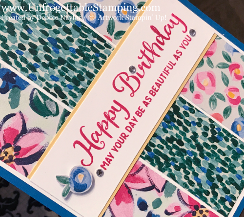 Unfrogettable Stamping | Fabulous Friday birthday card featuring the Garden Impressions DSP and Beautiful Day stamp set from Stampin' Up!