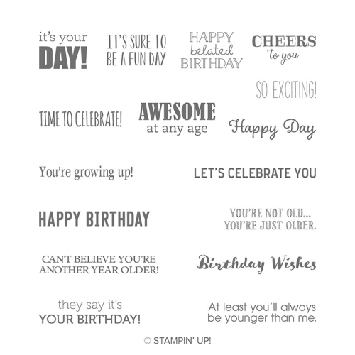 Unfrogettable Stamping | Itty Bitty BIrthdays cling stamp set from Stampin' Up!
