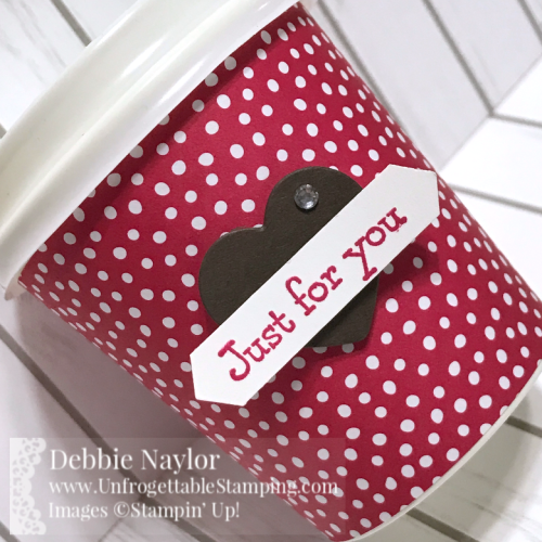 Unfrogettable Stamping | Fabulous Friday Valentine treat featuring the Lovely Lipstick In Color DSP, Wood Crate framelits for the Big Shot, Bella & Friends stamp set and Classic Label punch by Stampin' Up!