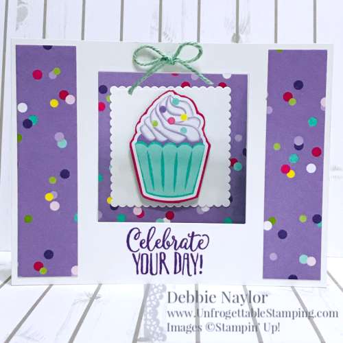 Unfrogettable Stamping Feb 2019 Stampers Dozen Blog Hop UFold cupcake card