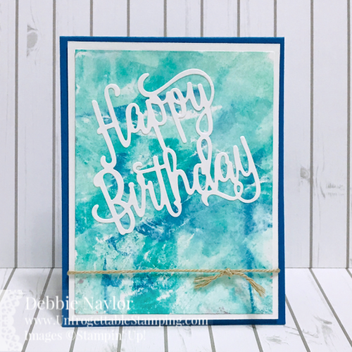 Unfrogettable Stamping   Fabulous Friday birthday card featuring the Cling Wrap technique