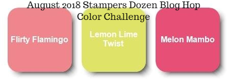 Unfrogettable Stamping | August 2018 Stampers Dozen Blog Hop Color Challenge
