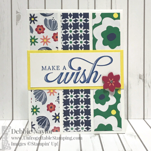 Unfrogettable Stamping | Fabulous Friday birthday card featuring the Life is Grand stamp set and Happiness Blooms DSP found in the 2019 Occasions catalog from Stampin' Up!
