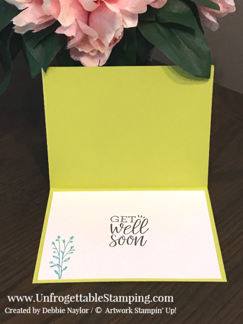 Unfrogettable Stamping | Fabulous Friday Color Challenge card featuring Bermuda Bay and Lemon-Lime Twist,  Healing Hugs stamp set, Big Shot, Flourishes thinlits and Tufted dynamic texture folder by Stampin' Up!
