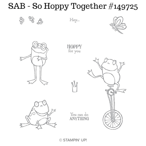 Unfrogettable Stamping | Earn this So Hoppy Together stamp set for FREE with a qualifying $50 product order placed now through March 31st during Sale-a-Bration 2019 from Stampin' Up!
