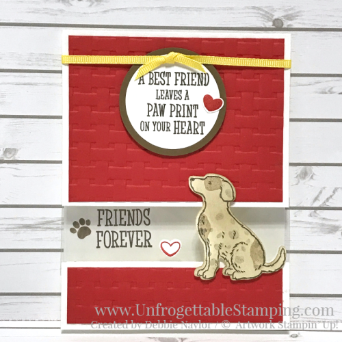 Unfrogettable Stamping | December 2018 Stampers Dozen Blog Hop 2019 Occasions Catalog sneak peek card featuring the Happy Tails bundle