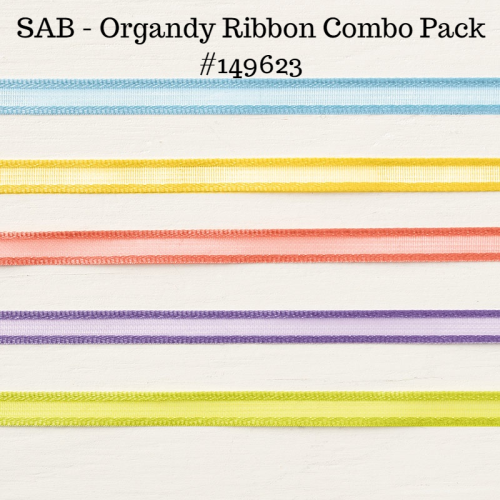 Unfrogettable Stamping | Earn this Organdy Ribbon Combo pack for FREE with a qualifying $50 product order placed now through March 31st during Sale-a-Bration 2019 from Stampin' Up!