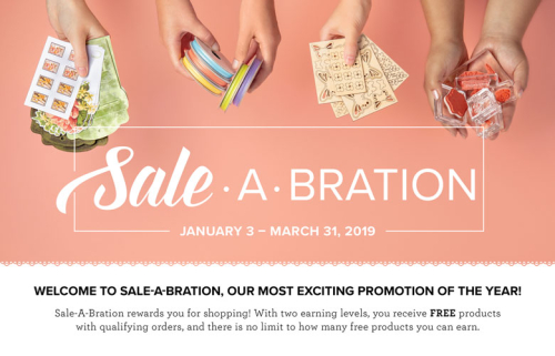 Unfrogettable Stamping | Shop with me and earn FREE Sale-a-Bration items with qualifying orders now through March 31, 2019