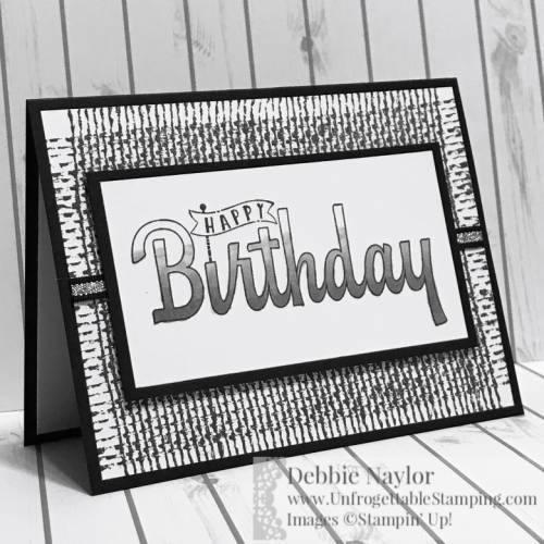 Unfrogettable Stamping | Fabulous Friday monochromatic birthday card featuring the Birthday Wishes for You stamp set and Smoky Slate Stampin' Blends from Stampin' Up!