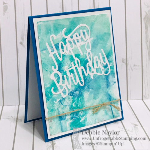Unfrogettable Stamping | Fabulous Friday birthday card featuring the Cling Wrap technique