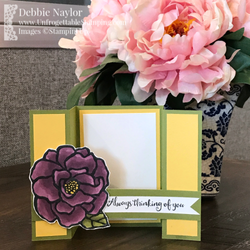 Unfrogettable Stamping | Fabulous Friday Spring bridge card featuring the  Beautiful Day stamp set by Stampin' Up!