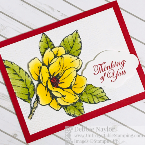 Unfrogettable Stamping | Fabulous Friday thinking of you card featuring the Good Morning Magnolia stamp set by Stampin' Up!