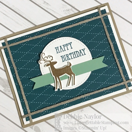 Unfrogettable Stamping   Fabulous Friday masculine birthday card featuring the Dashing Deer and Well  Said stamp sets from Stampin' Up!