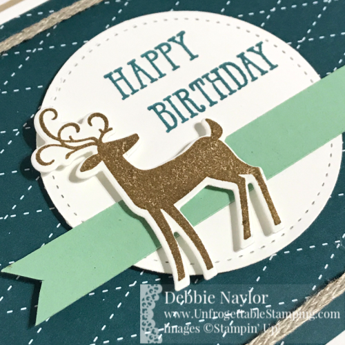 Unfrogettable Stamping | Fabulous Friday masculine birthday card featuring the Dashing Deer and Well  Said stamp sets from Stampin' Up!