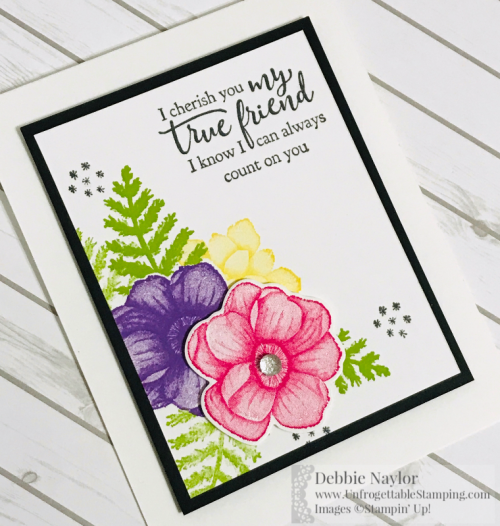 Unfrogettable Stamping | March 2019 Stampers Dozen Sale-a-Bration Coordination card featuring the Painted Seasons stamp set, Four Seasons framelits and Strong & Beautiful stamp set by Stampin' Up!