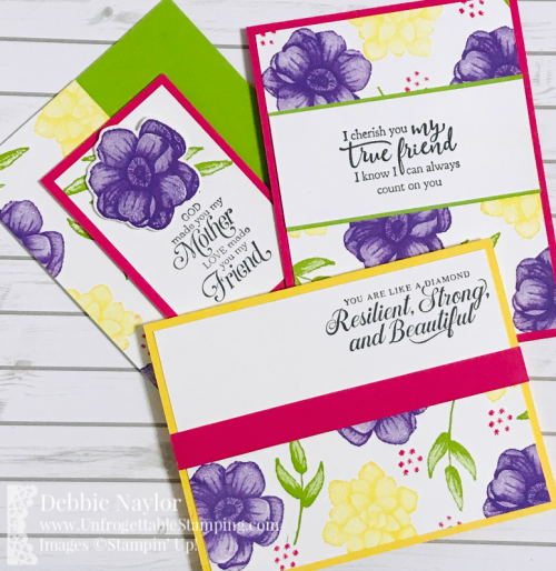 Unfrogettable Stamping Fabulous Friday Half sheet OSW Painted Seasons cards6