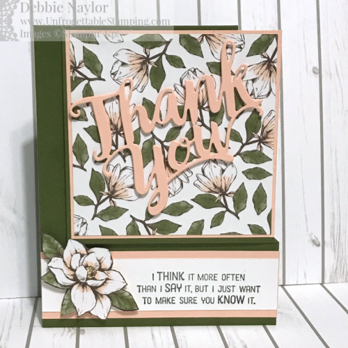 Unfrogettable Stamping | Fabulous Friday corner fold card featuring the Magnolia Lane DSP by Stampin' Up!