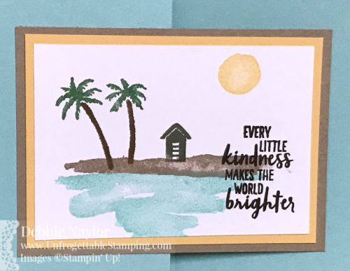 Unfrogettable Stamping | Fabulous Friday Ocean-inspired card featuring the Waterfront stamp set by Stampin' Up!