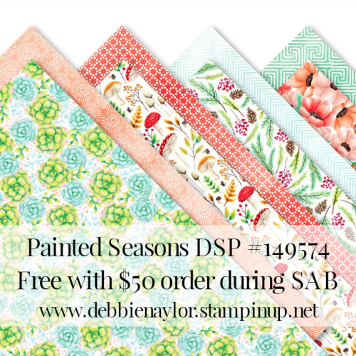Unfrogettable Stamping | 2019 Sale-a-Bration selection Painted Seasons DSP from Stampin' Up!