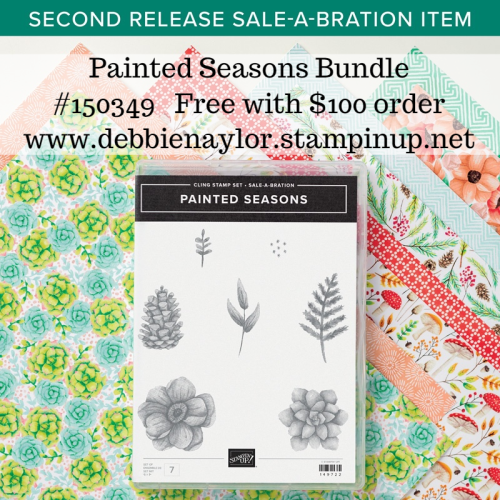 Unfrogettable Stamping | Painted Seasons Bundle available during Sale-a-Bration with a $100 order from Stampin' Up!
