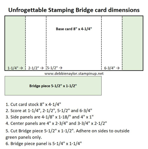 Unfrogettable Stamping | Bridge card dimensions
