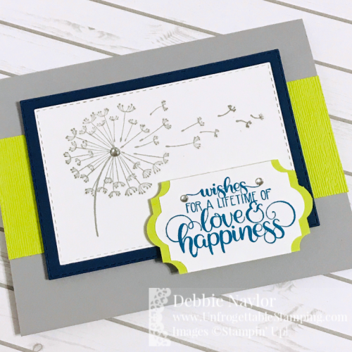 Unfrogettable Stamping | Fabulous Friday color challenge card featuring the Dandelion Wishes stamp set by Stampin' Up!