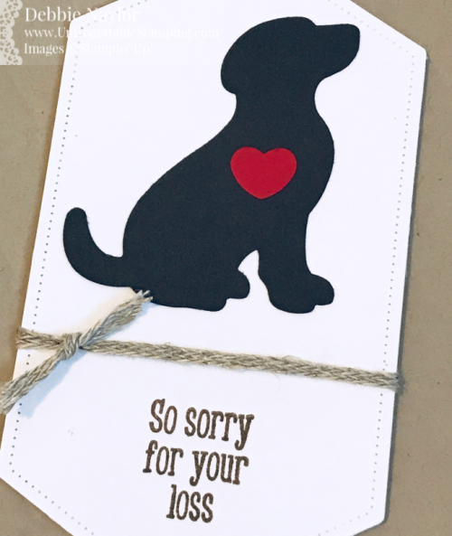 Unfrogettable Stamping | Fabulous Friday sympathy card featuring the Happy Tails stamp set and coordinating Dog Builder punch by Stampin' Up!