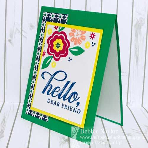 Unfrogettable Stamping | Fabulous Friday Last Chance Products card featuring the Bloom by Bloom and Life is Grand stamp sets with the Happiness Blooms DSP by Stampin' Up!  Get these through June 3, 2019!!