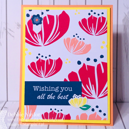 Unfrogettable Stamping | Fabulous Friday simple card featuring the Happiness Blooms Memories and More kit from Stampin' Up!