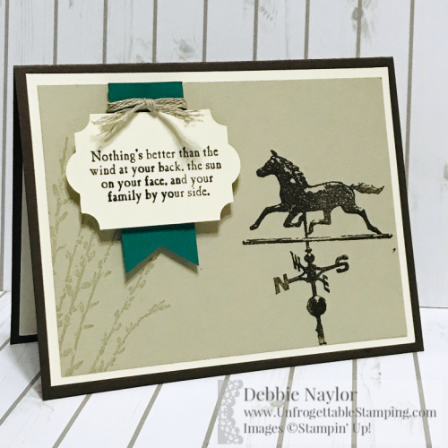 Unfrogettable Stamping | Fabulous Friday masculine birthday card featuring the Country Road stamp set by Stampin' Up!
