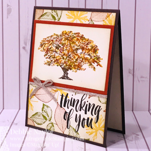 Unfrogettable Stamping | October 2019 Stampers Dozen Blog Hop Fall card featuring the Rooted in Nature stamp set by Stampin' Up!