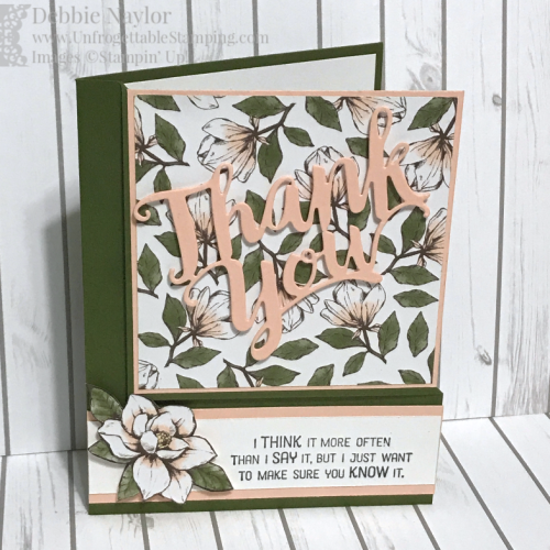 Unfrogettable Stamping Fabulous Friday Magnolia Lane corner fold card2