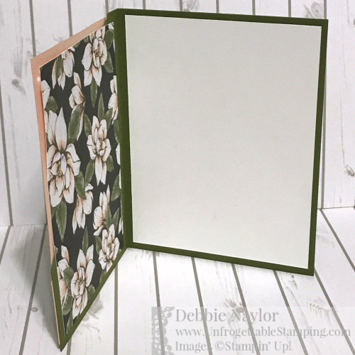 Unfrogettable Stamping   Fabulous Friday corner fold card featuring the Magnolia Lane DSP by Stampin' Up!