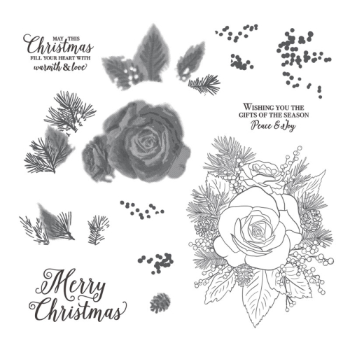 Unfrogettable Stamping | Christmas Rose stamp set by Stampin' Up!