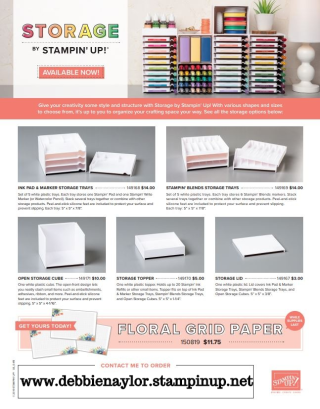 Unfrogettable Stamping | Storage by Stampin' Up! new product line