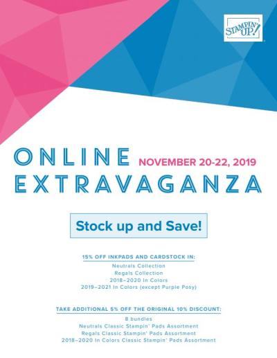 Unfrogettable Stamping | Stampin' Up! Online Extravaganza sale Nov 20-22 details