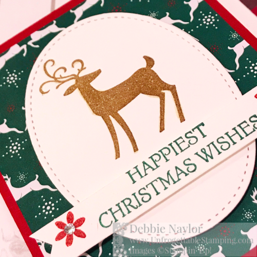 Unfrogettable Stamping | Fabulous Friday gift card holder featuring the Dashing Deer stamp set and Wrapped in Plaid DSP by Stampin' Up!