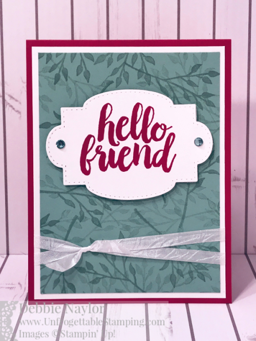 Unfrogettable Stamping | Fabulous Friday Spring catalog card featuring the Seriously the Best stamp set and Stitched so Sweetly Dies by Stampin' Up!