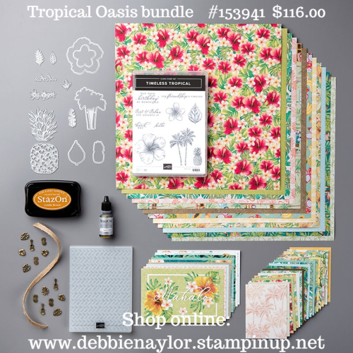 Unfrogettable Stamping | Tropical Oasis product bundle from Stampin' Up!