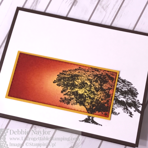 Unfrogettable Stamping | Fabulous Friday sponged Fall card featuring the Rooted in Nature stamp set by Stampin' Up!